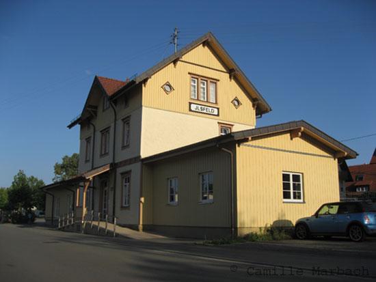 Bahnhof Ilsfeld von Westen